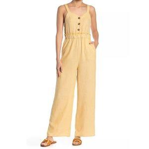 NWT Romeo & Juliet Couture Linen Jumpsuit Size S